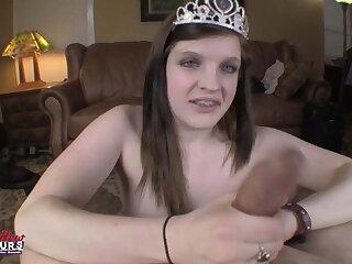 BrandNewAmateurs barely 18yo Blowjob Princess Riley Audition