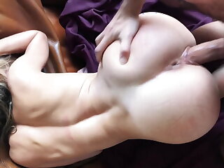 Gorgeous girl deepthroat and fucked hard from behind