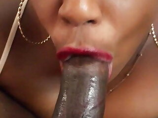 Sucking slobber and cock with a big wet open mouth