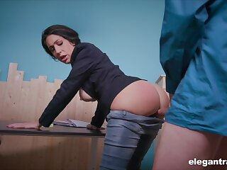 News host Eloa Lombard is ready for wholly hard anal banging