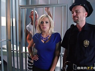 Rough fucking in the prison with bit tits pornstar Nina Elle