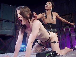 Kinky lesbian torture innings between Katharine Cane & Nikki Darling