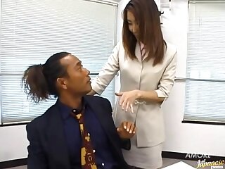 Small special Japanese secretary Runa Sawaguchi moans during a quickie