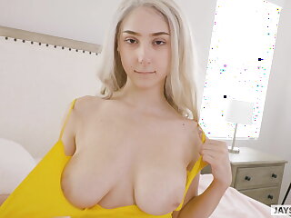 Huge natural tits twerking cum slut