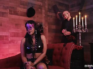Masked babe Mary Jean fucked hard in an upscale sex dungeon