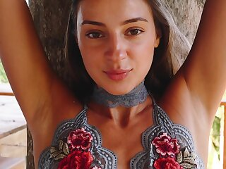 Tall Russian goddess like babe loves getting naked in the most exotic locations