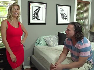 Alexis Fawx and her step- daughters new partner are fucking like wild animals, in the bedroom