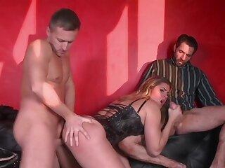 Alluring nymph Anne gangbang hardcore porn clip