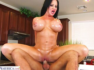 Big butt MILF Sybil Stallone enjoys object fucked foreigner behind