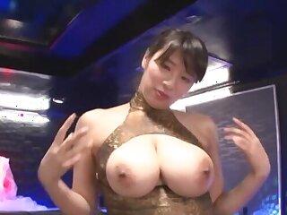 Busty Japanese babe Haruna Hana enjoys having clothed sex