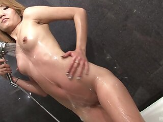 Kinky Thai babe Kim Blossom moans not later than sex prevalent a white guy
