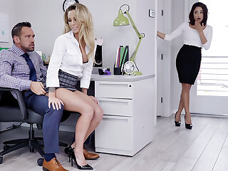 Manager strive three-way intercourse with workers