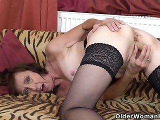 European Gilf Danina Goes To Town On Her Sweet Matured Cunt